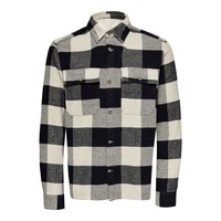 Only & Sons Check Flannel Overshirt Pelican