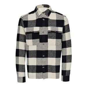 Only & Sons Only & Sons Check Flannel Overshirt Pelican
