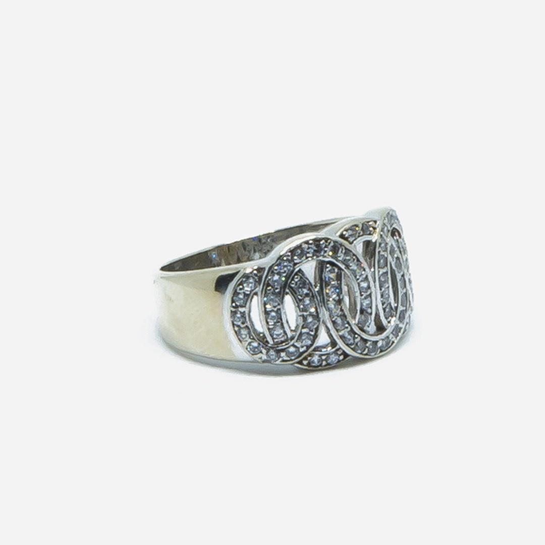 Ring witgoud met cirkels en zirkonia-3