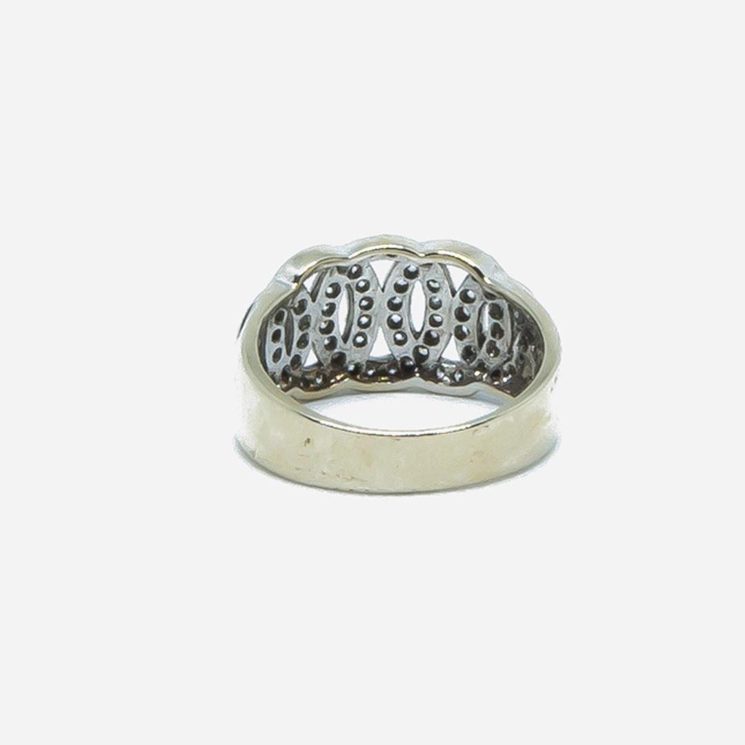 Ring witgoud met cirkels en zirkonia-5