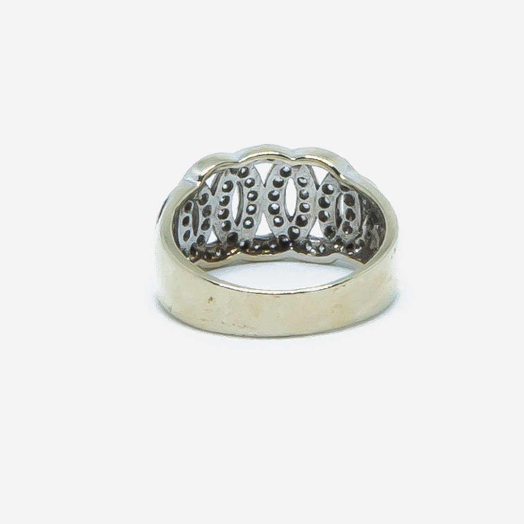 Ring witgoud met cirkels en zirkonia-6