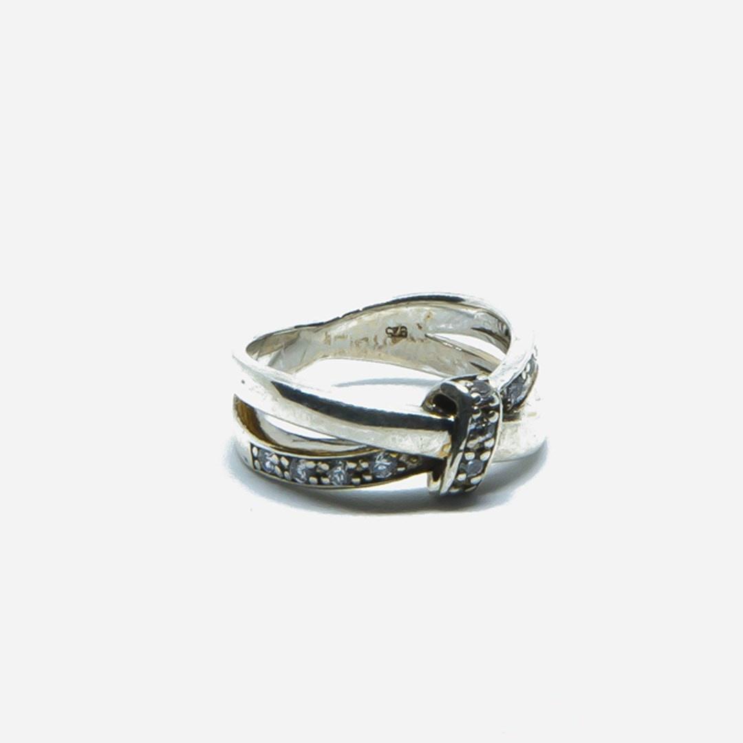 Ring met witte steentjes-4