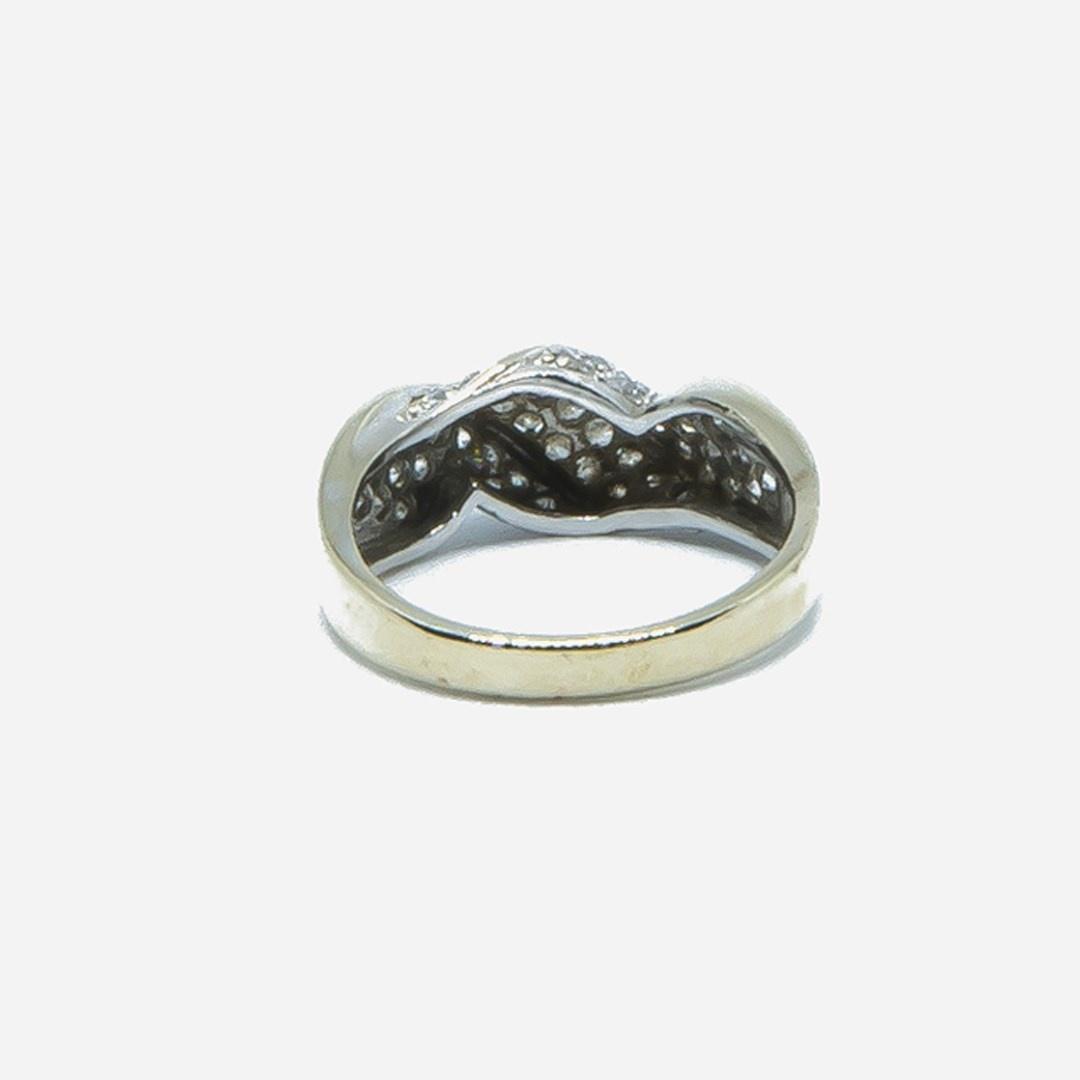 Ring witgoud met witte steentjes-3