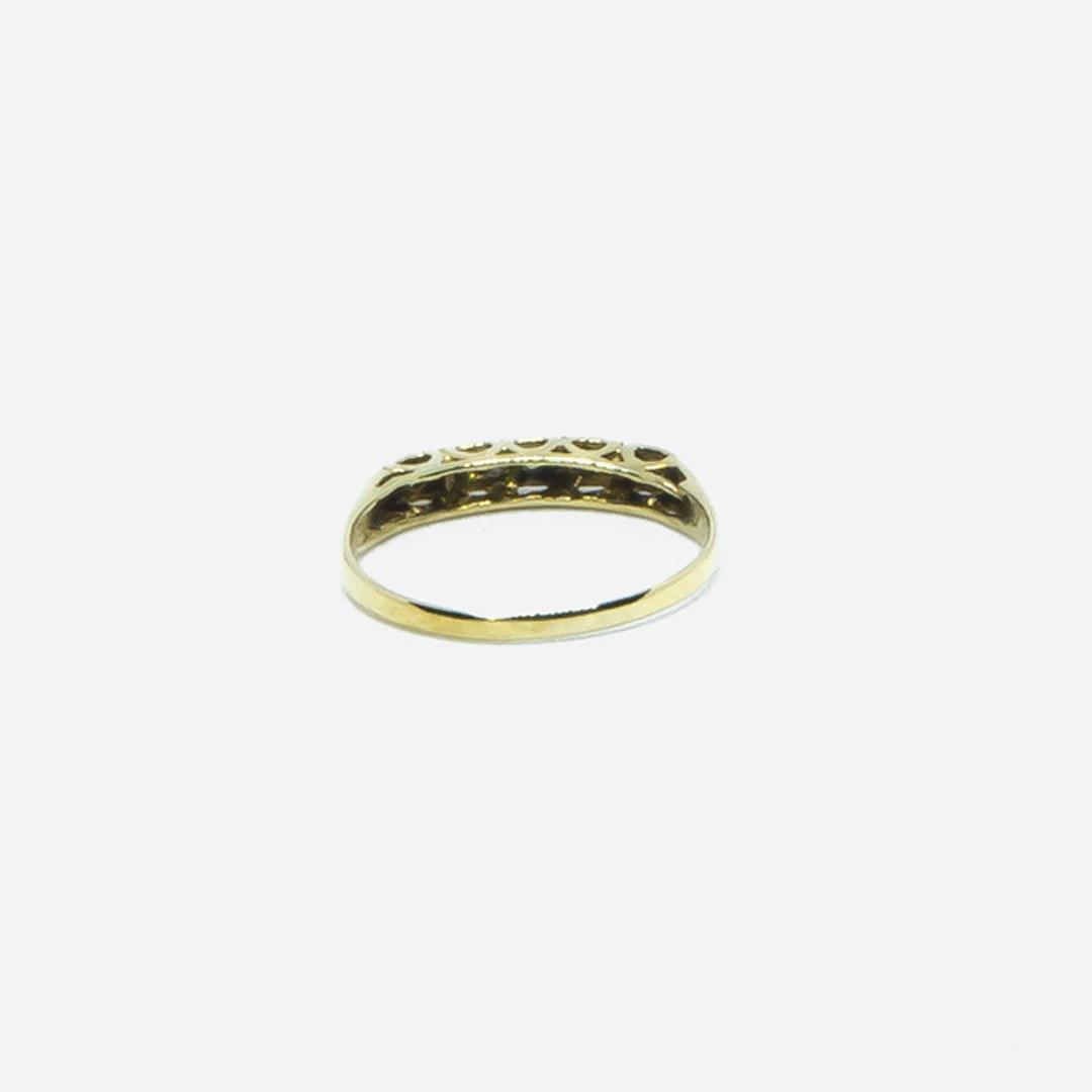 Ring met 5 diamantjes-2