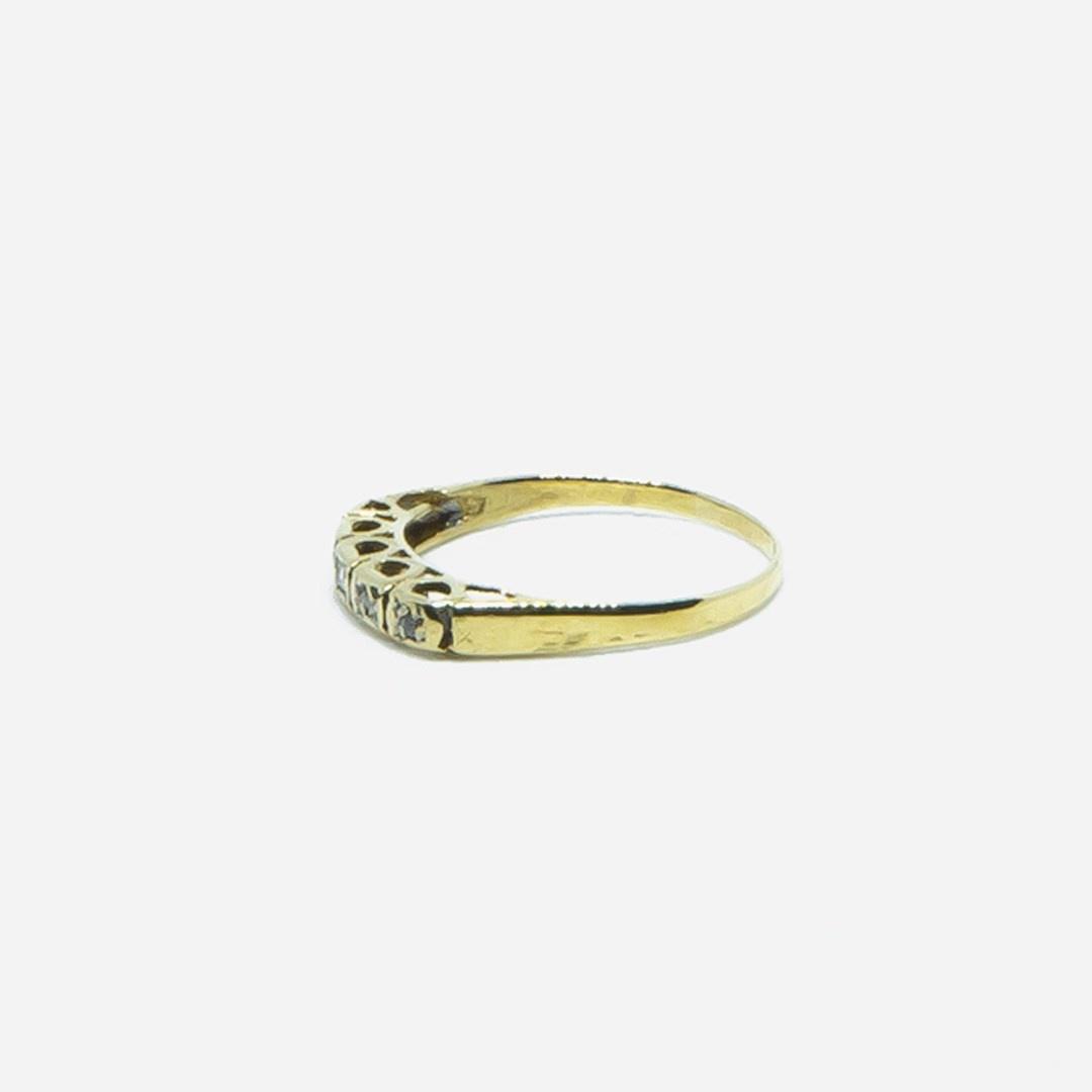 Ring met 5 diamantjes-3