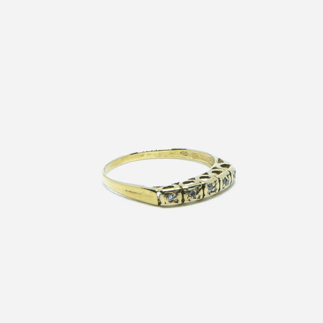 Ring met 5 diamantjes-4