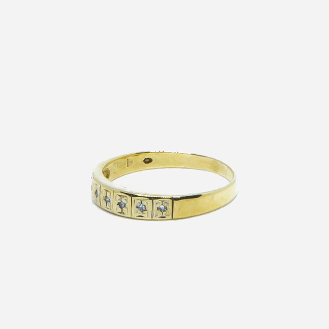 Ring met 7 diamantjes-4
