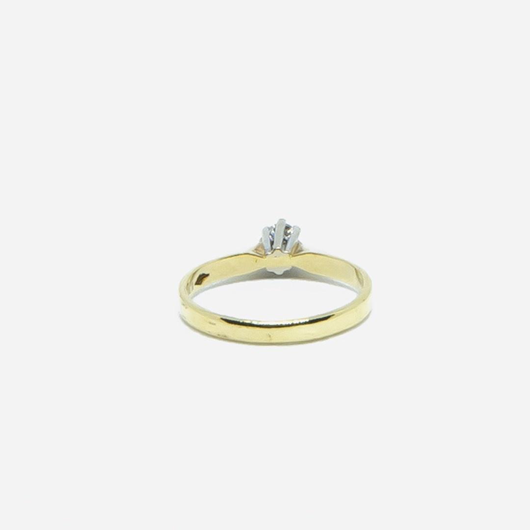 Ring solitair met diamant-2