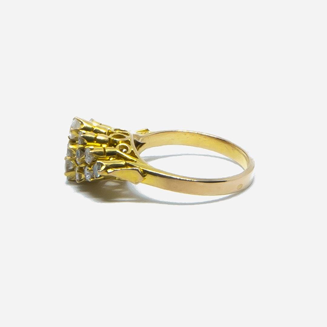 Ring met diamantjes in lagen-5