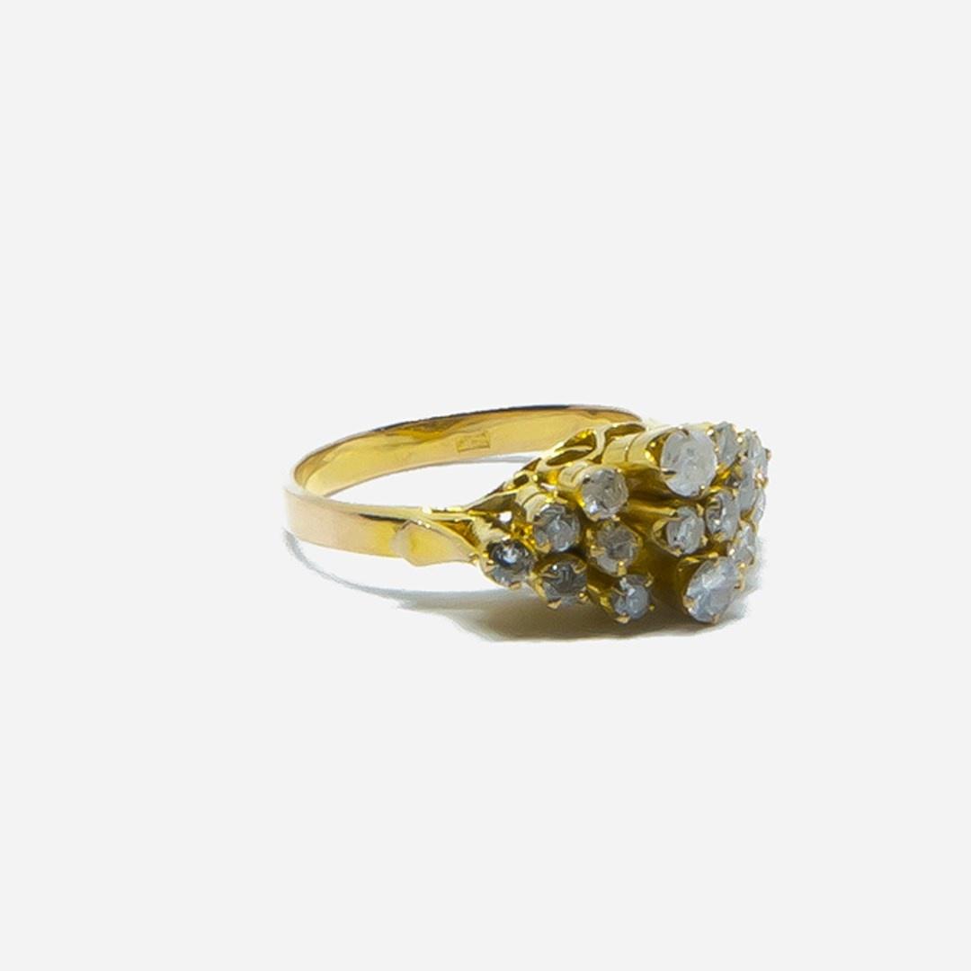 Ring met diamantjes in lagen-3