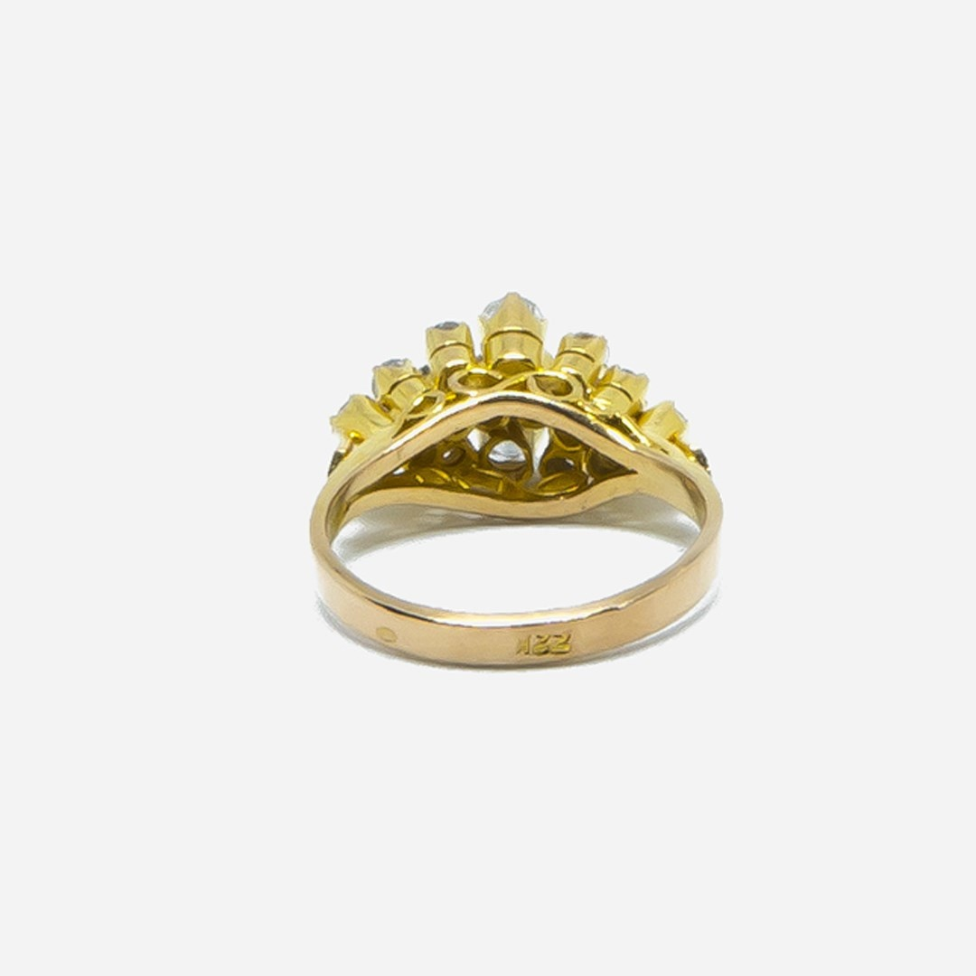 Ring met diamantjes in lagen-4