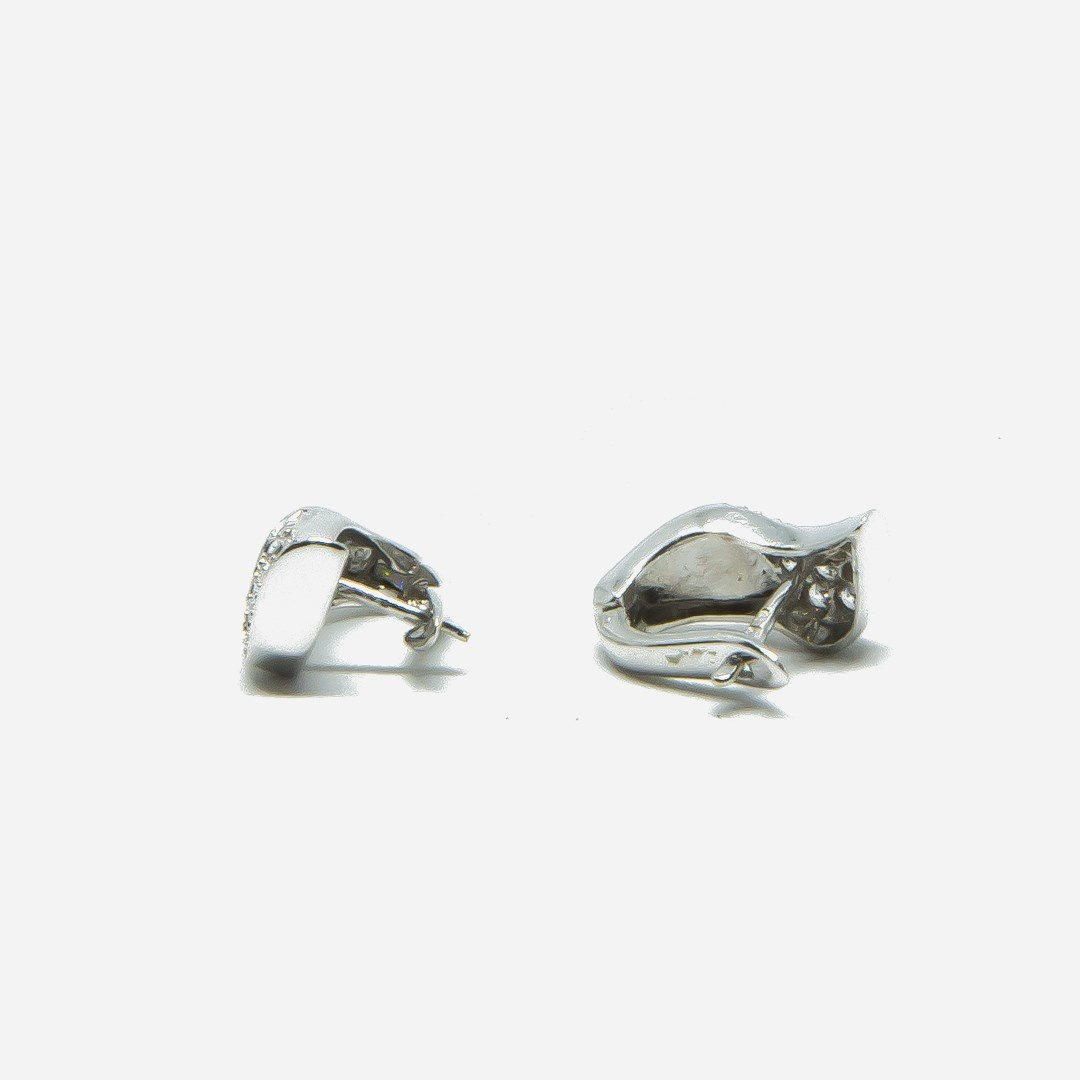 Oorbellen stekers met steentjes witgoud-4