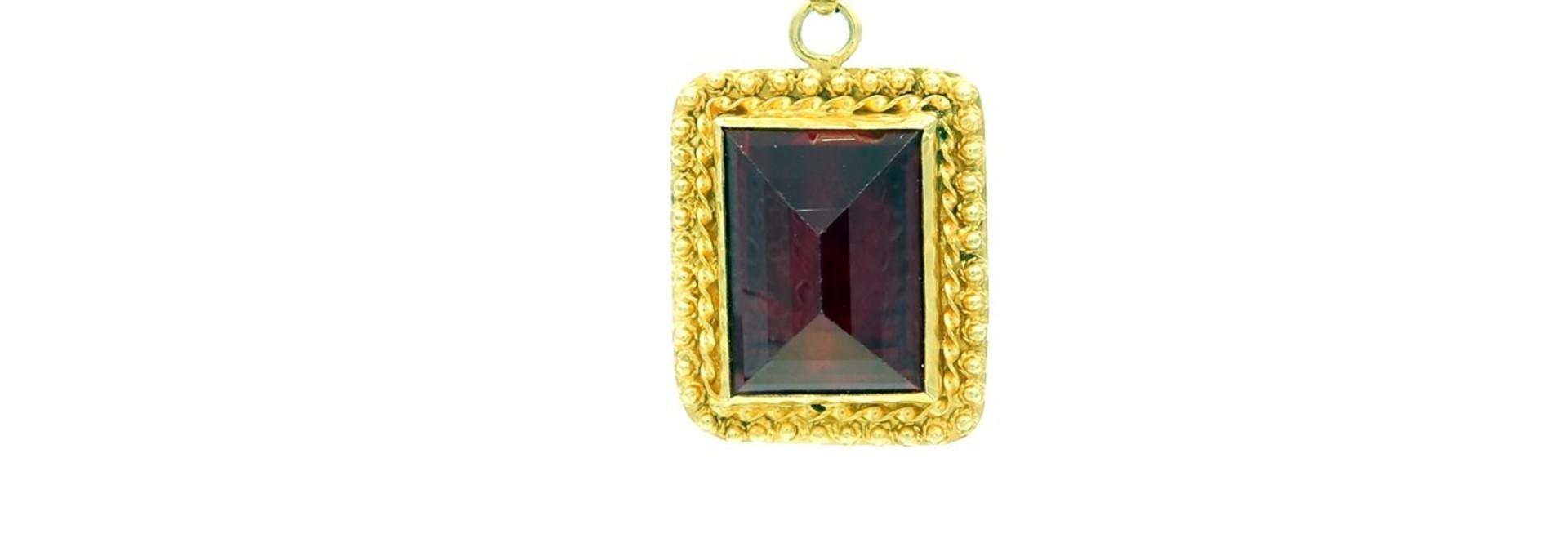 Hanger rechthoekige rode steen