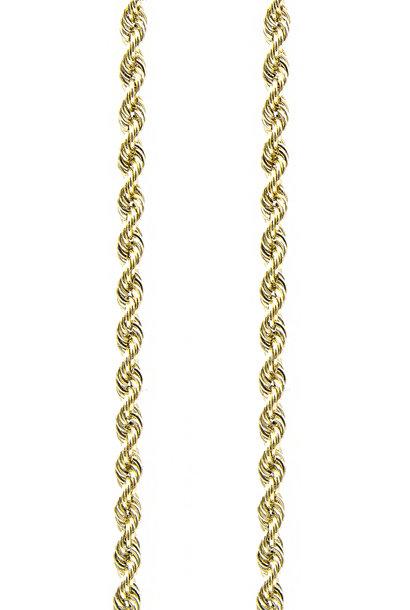 Rope chain Nederlands goud 4mm