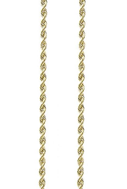 Rope  chain Nederlands goud 3mm