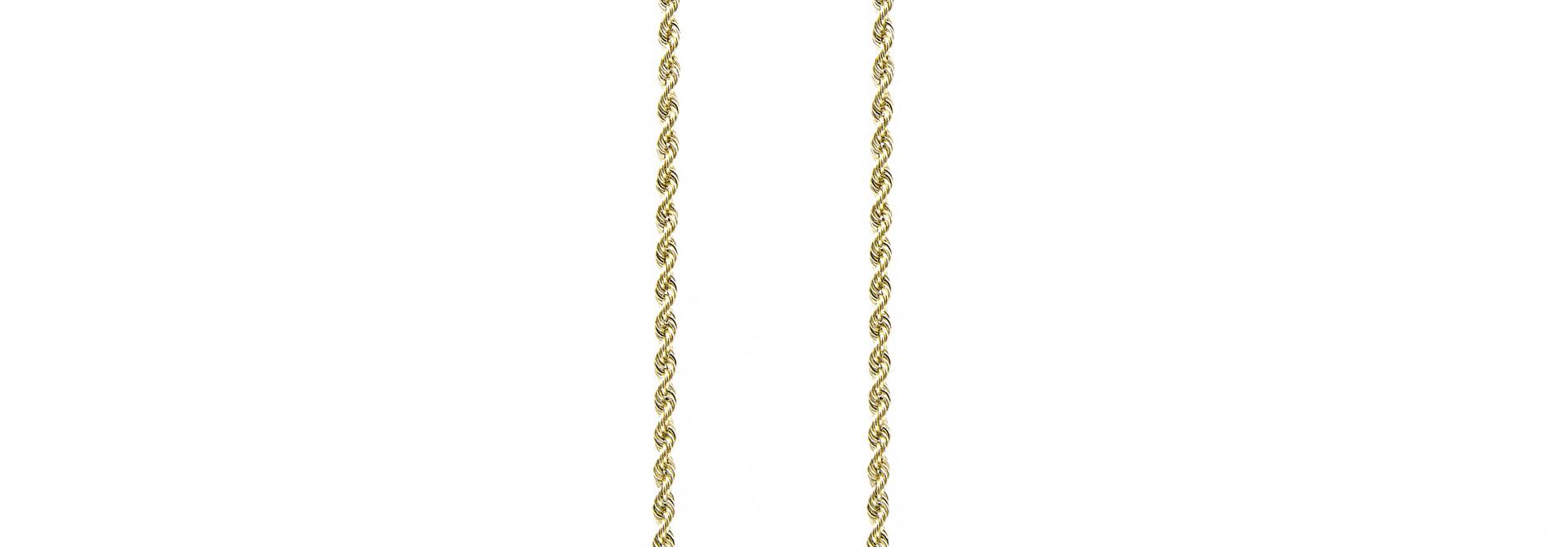 Rope chain Nederlands goud 18kt 4mm