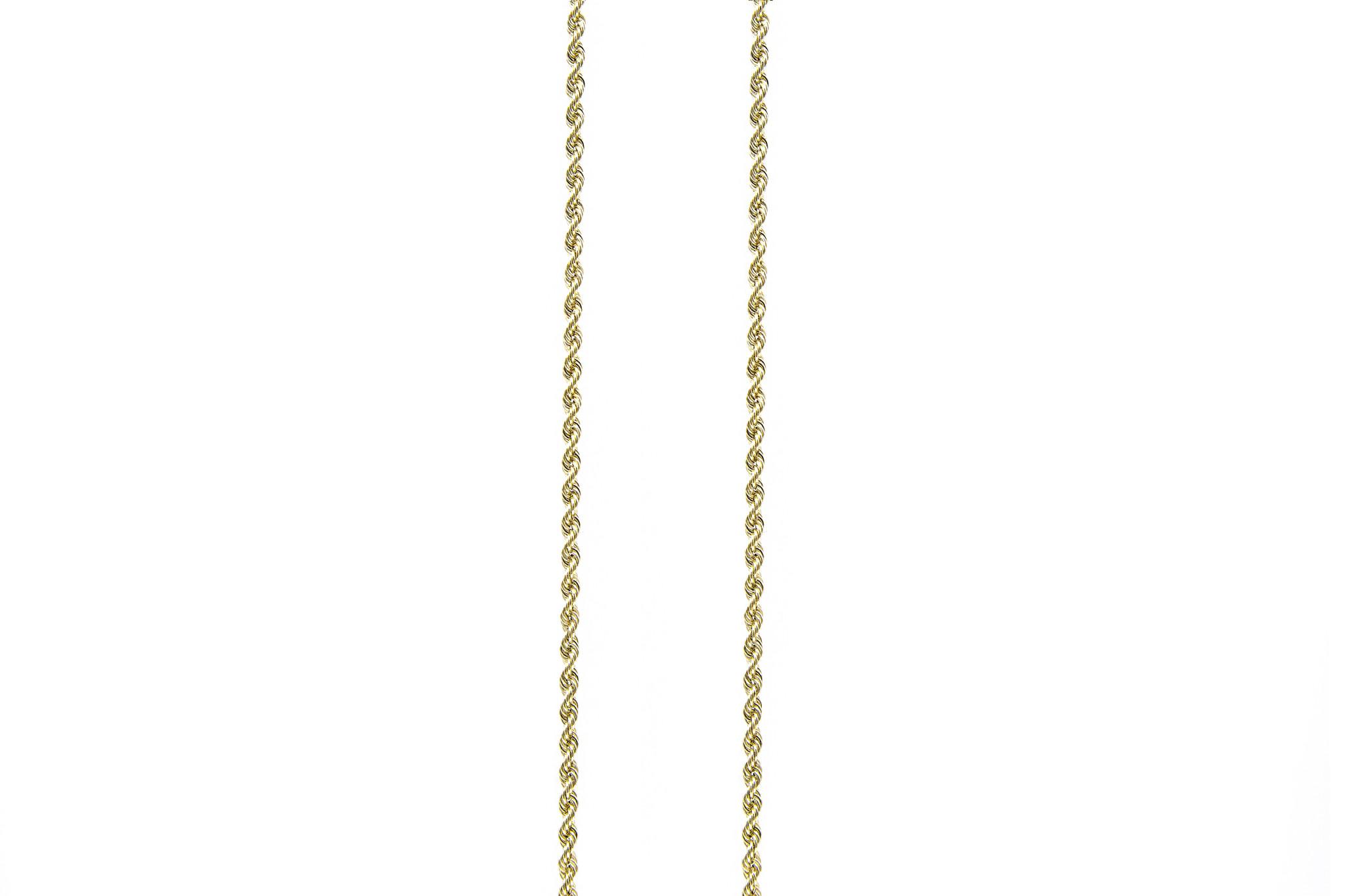 Rope chain Nederlands goud 18kt 4mm-1
