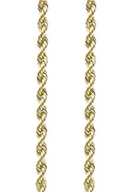Rope chain Nederlands goud 5mm