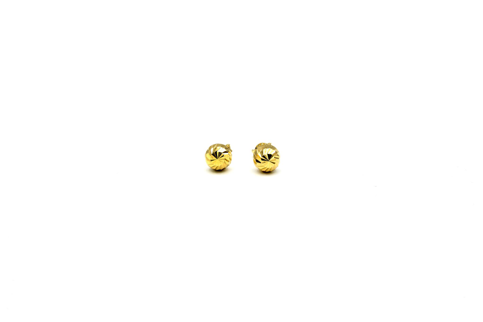 Oorbellen knopjes waarvan de helft met groefjes XL-1