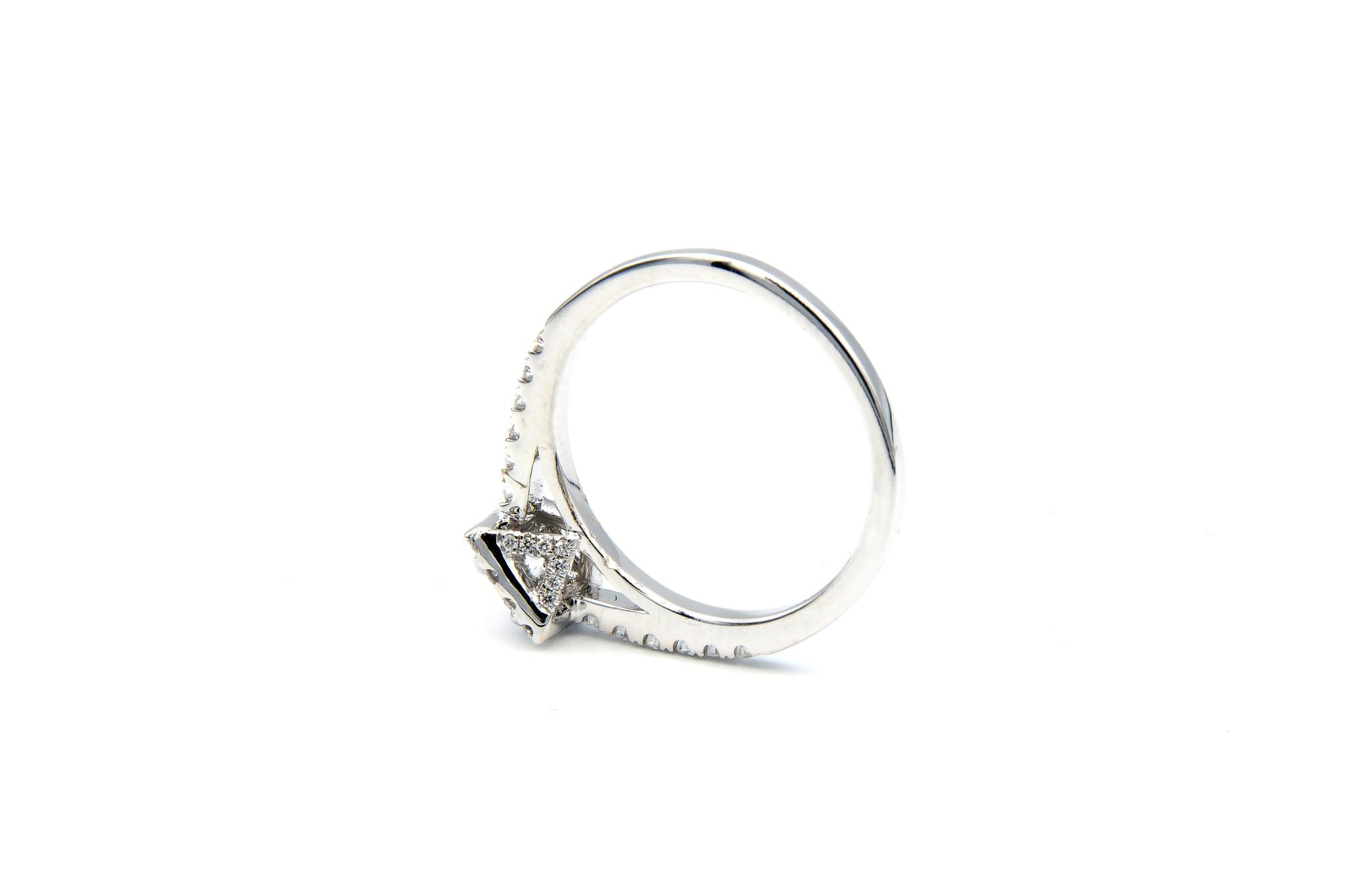 Ring verlovingsring witgoud met 0,2 ct SI en 0,28 ct VS diamant-2