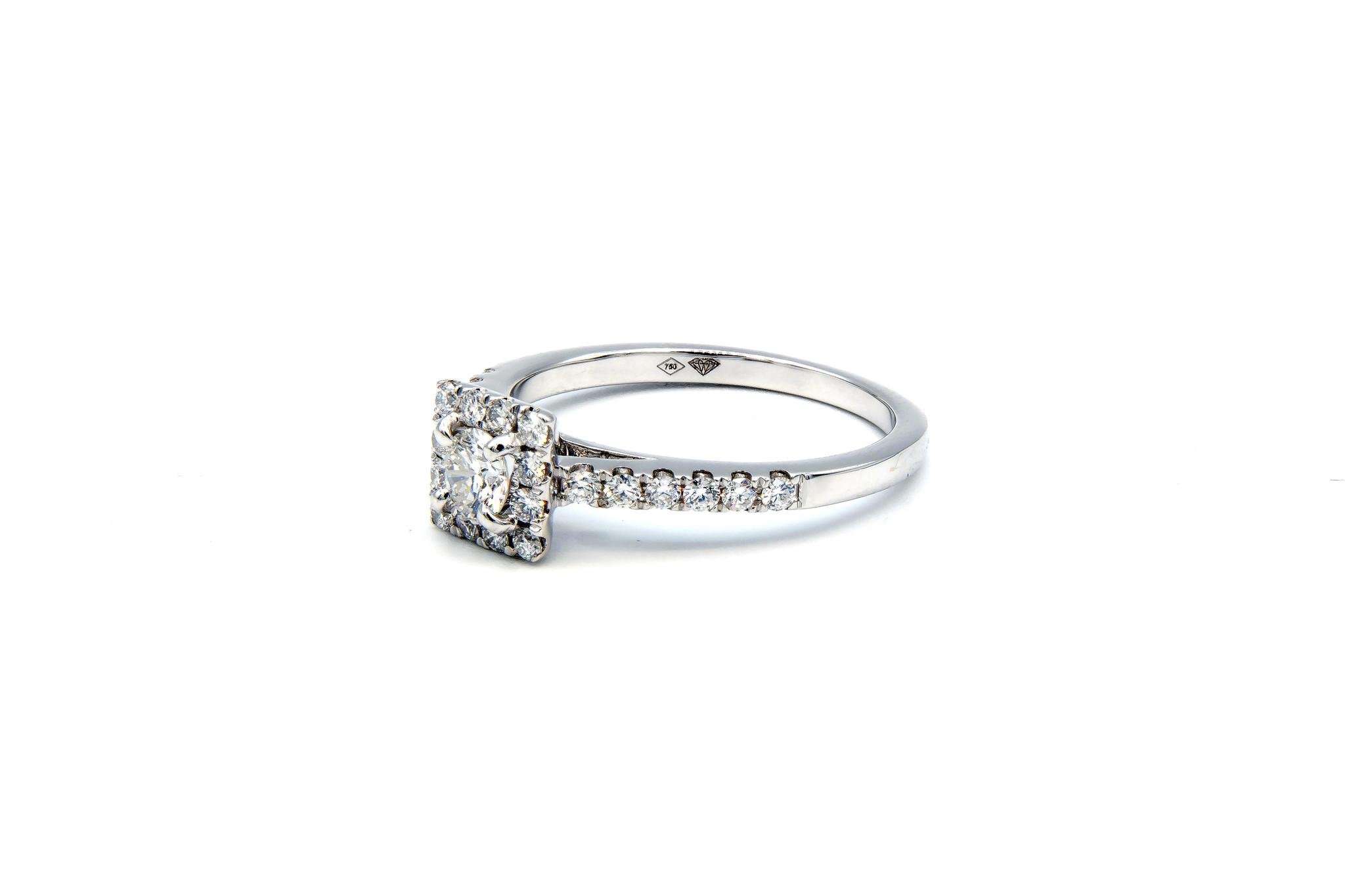 Ring verlovingsring witgoud met 0,2 ct SI en 0,28 ct VS diamant-3