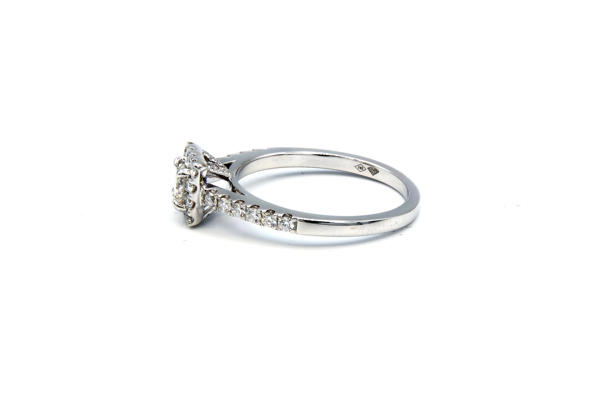 Ring verlovingsring witgoud met 0,2 ct SI en 0,28 ct VS diamant-4
