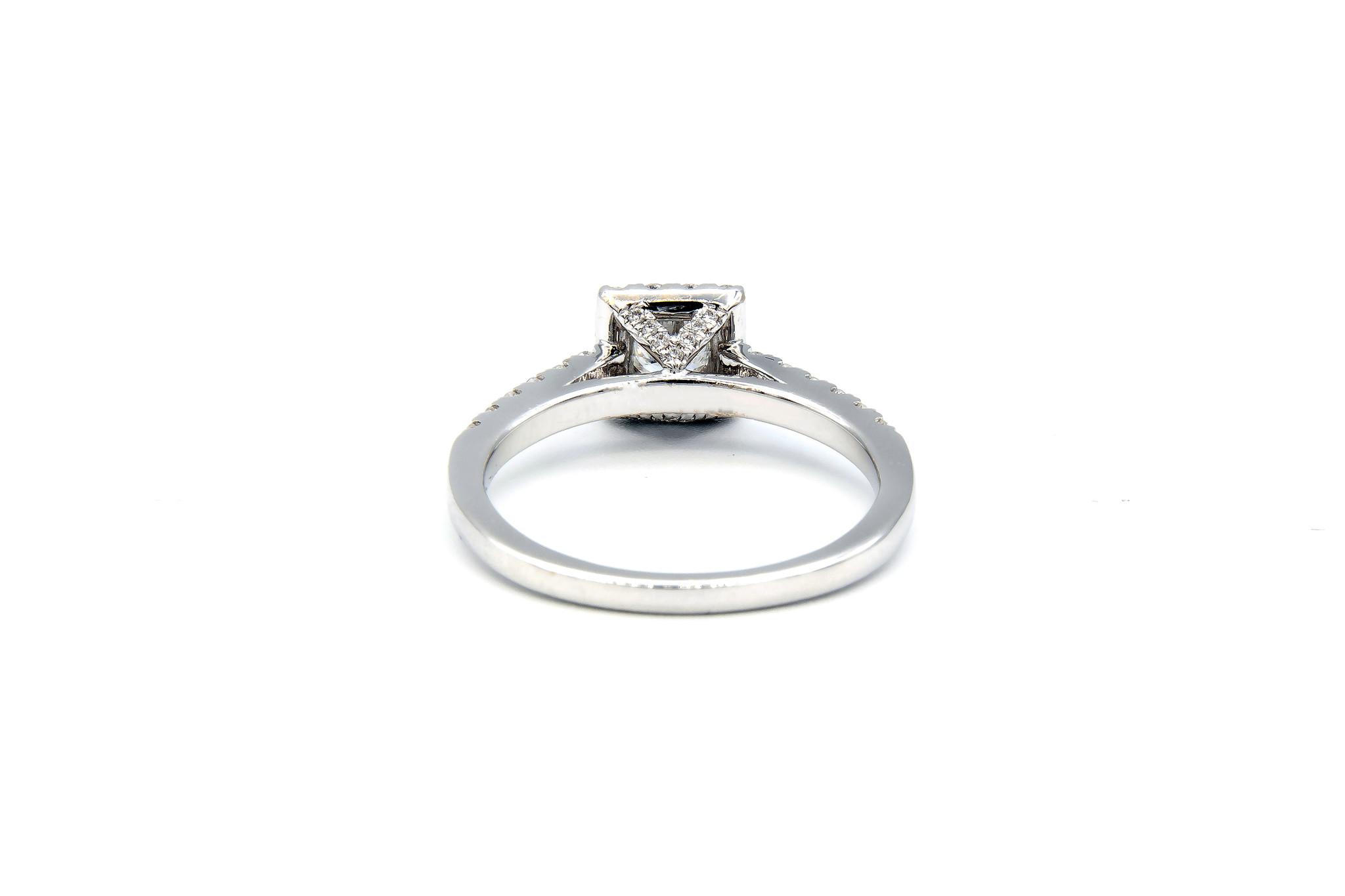 Ring verlovingsring witgoud met 0,2 ct SI en 0,28 ct VS diamant-5