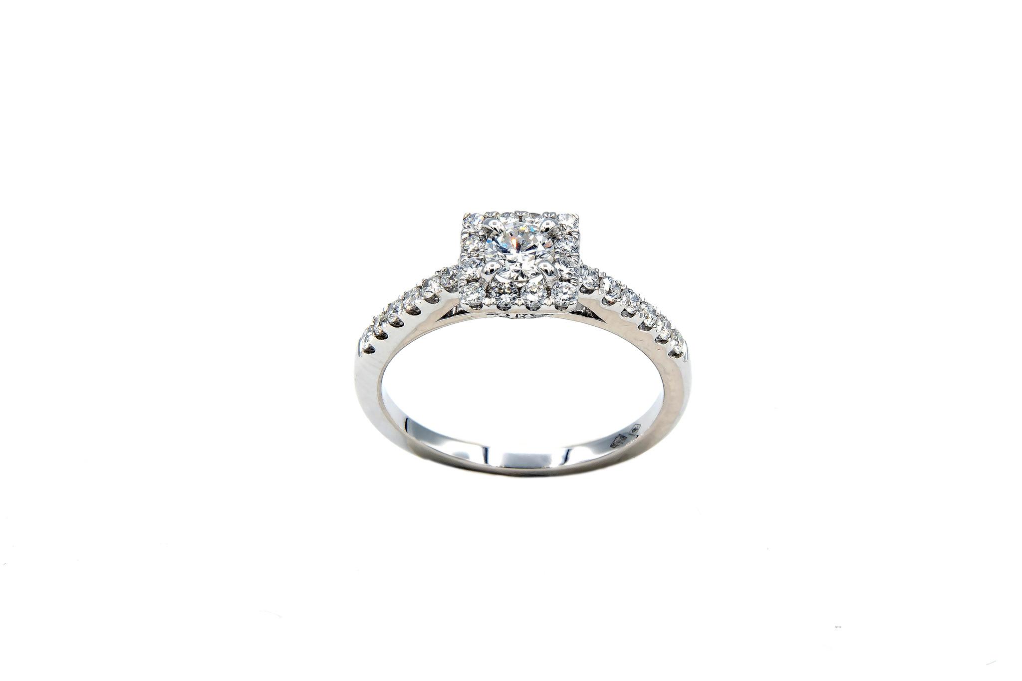 Ring verlovingsring witgoud met 0,2 ct SI en 0,28 ct VS diamant-6