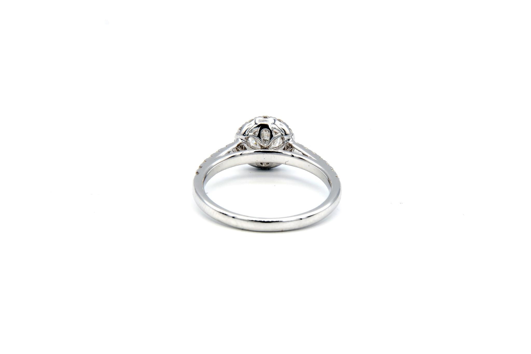 Ring verlovingsring witgoud met 0,5 ct SI en 0,59 ct VS diamant-2