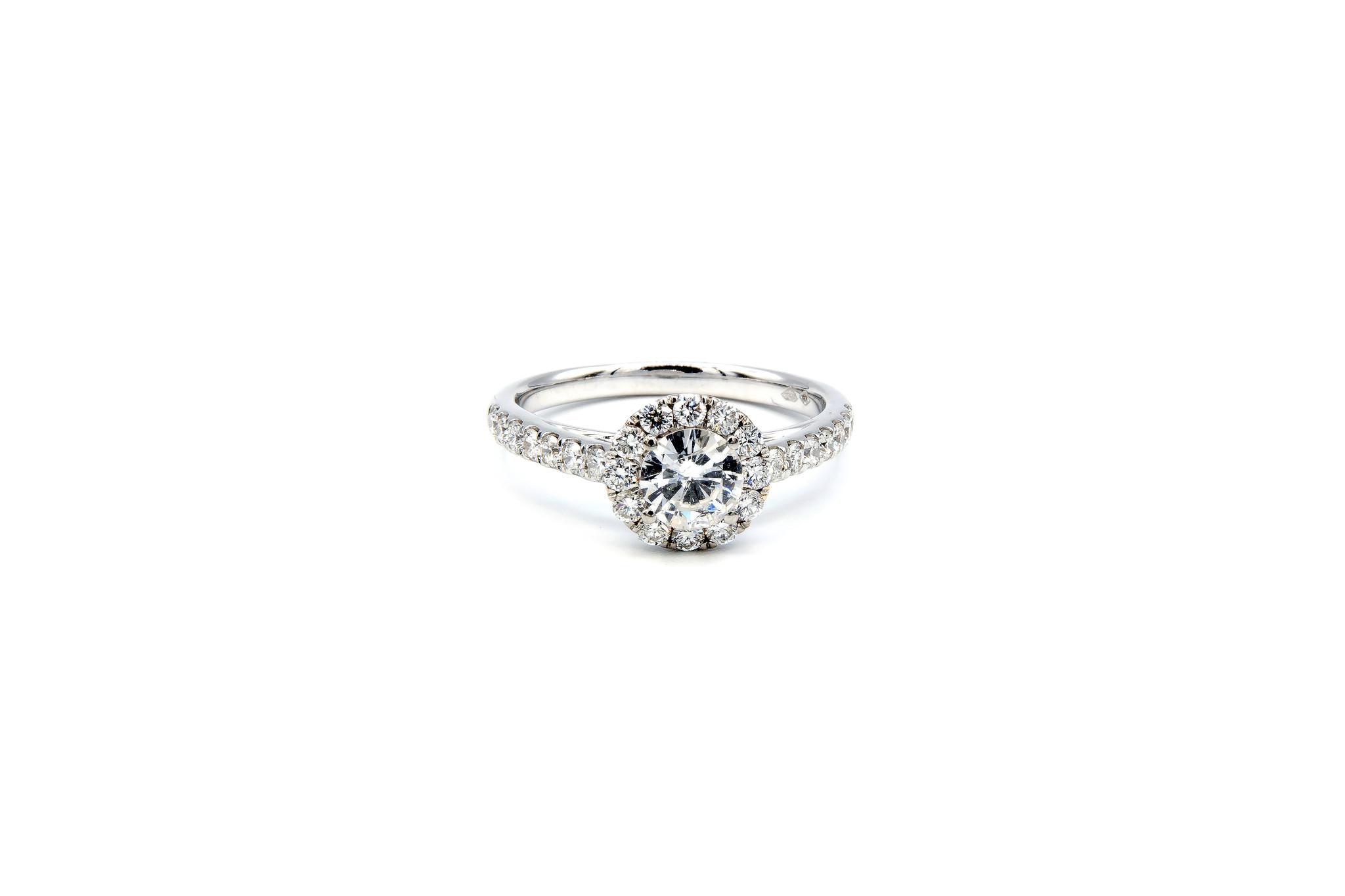 Ring verlovingsring witgoud met 0,5 ct SI en 0,59 ct VS diamant-1