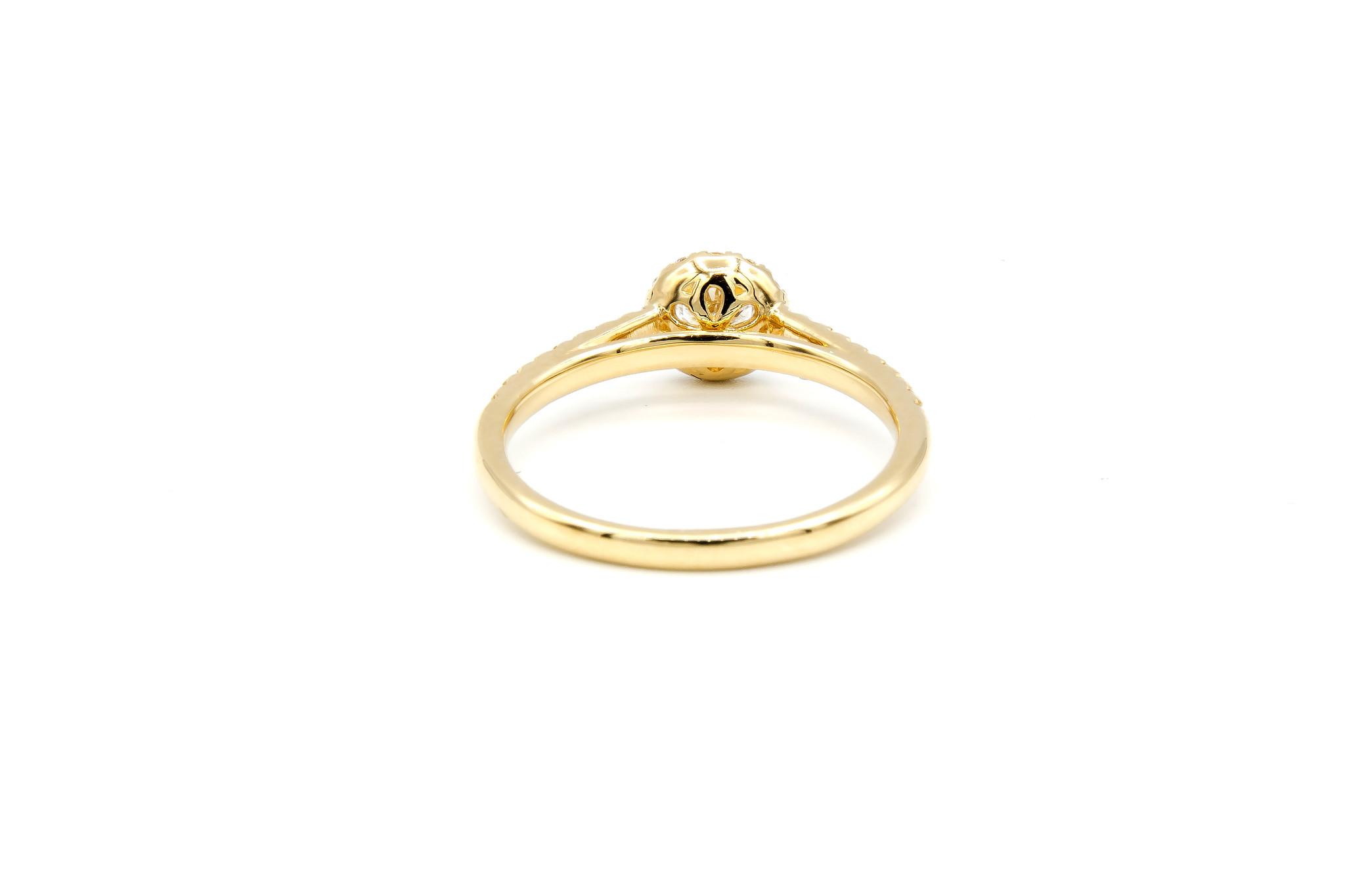Ring verlovingsring met 0,3 ct VS en 0,26 ct VS diamant-2