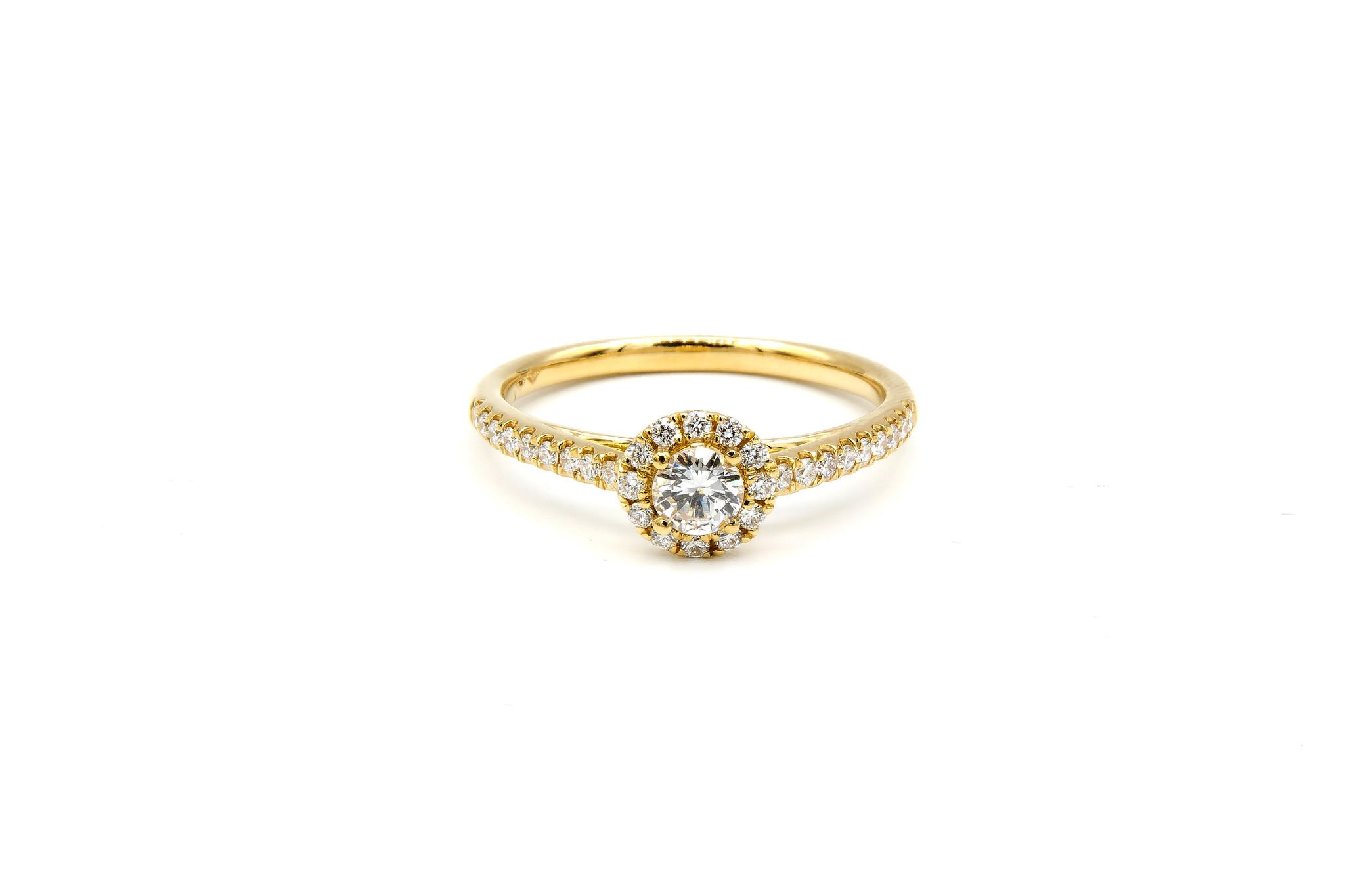 Ring verlovingsring met 0,3 ct VS en 0,26 ct VS diamant-1