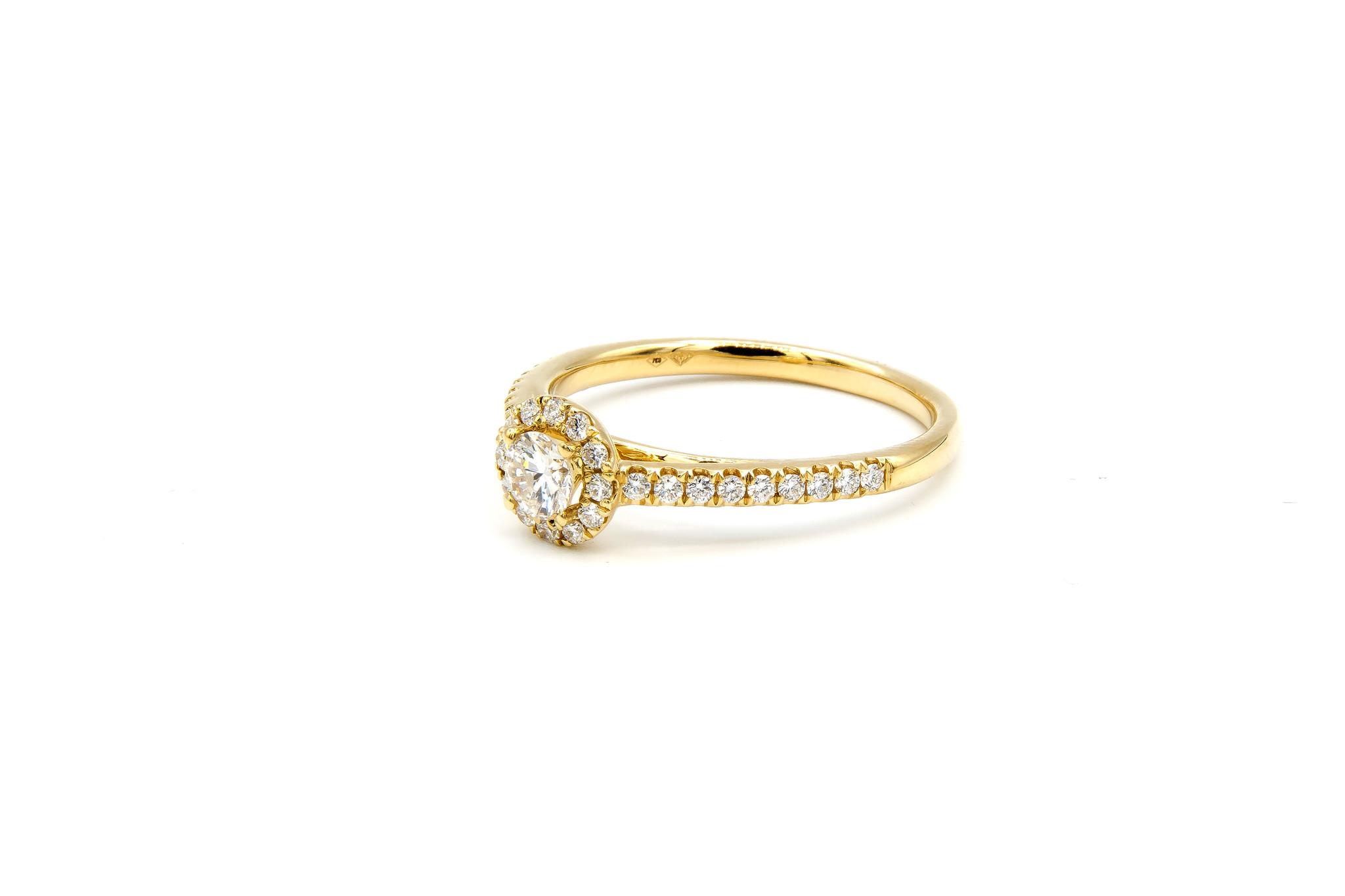 Ring verlovingsring met 0,3 ct VS en 0,26 ct VS diamant-3