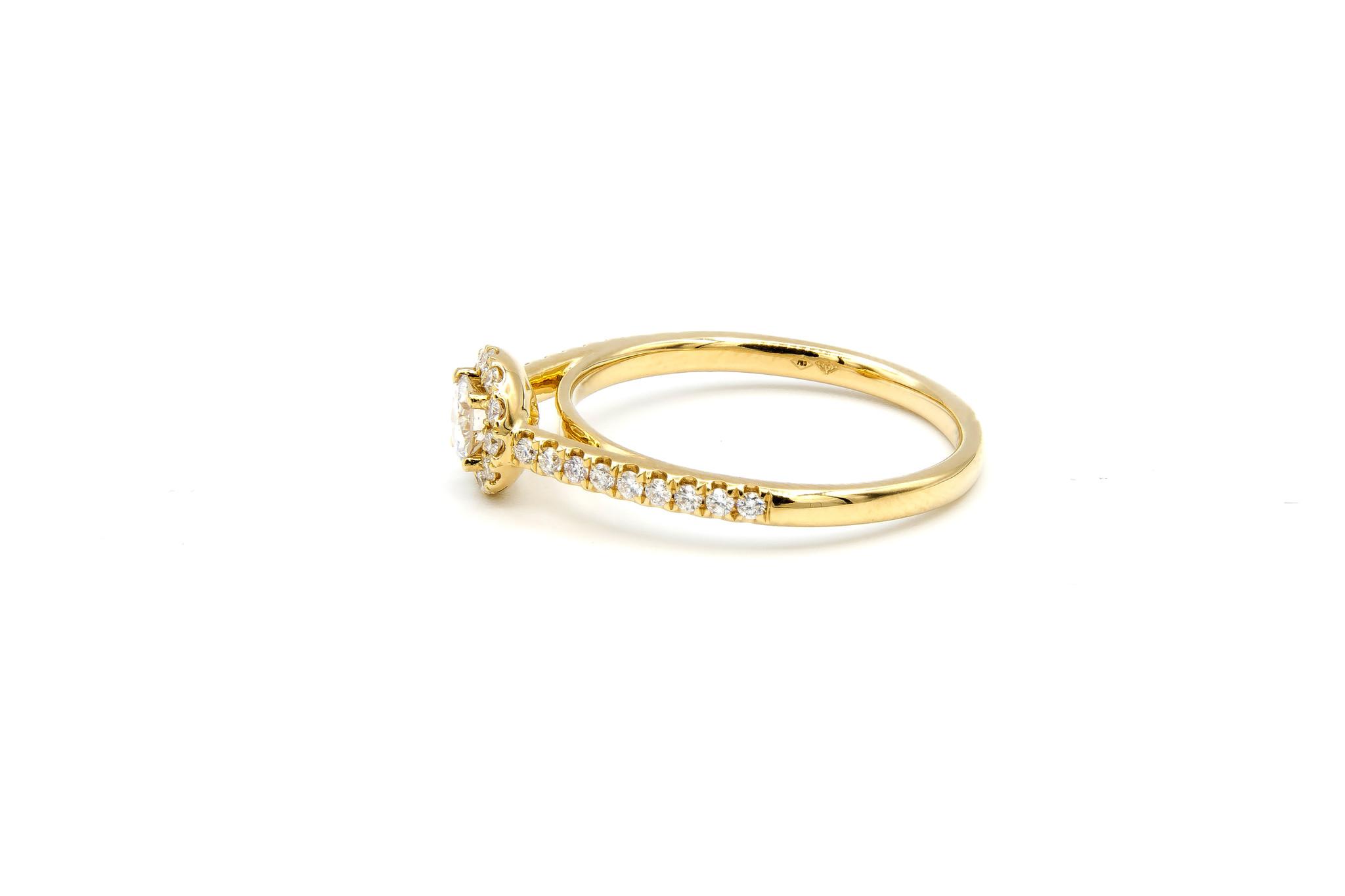 Ring verlovingsring met 0,3 ct VS en 0,26 ct VS diamant-4