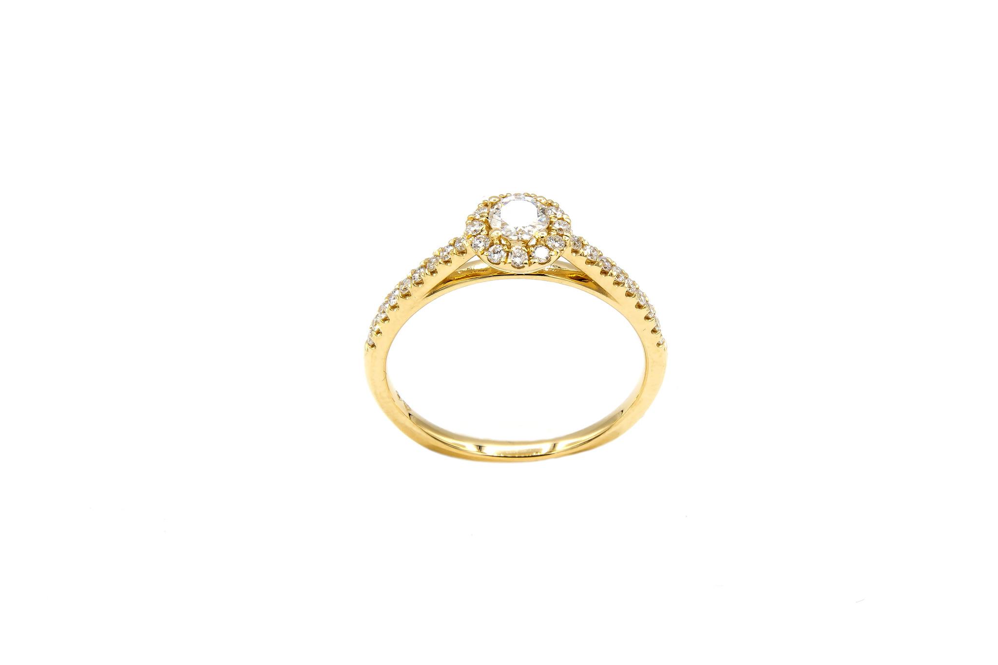 Ring verlovingsring met 0,3 ct VS en 0,26 ct VS diamant-5