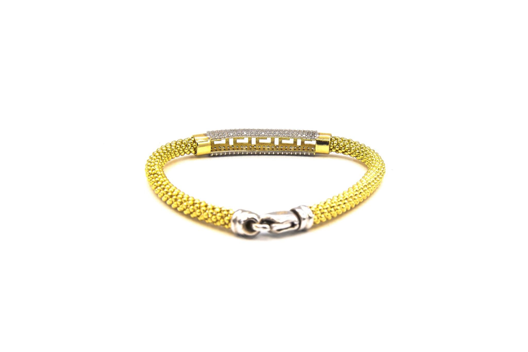 Armband halve slavenband versace met zirkonia's en flexibele boto ketti-3