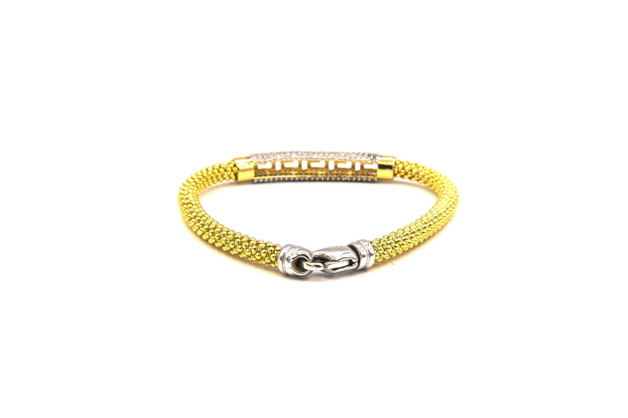 Armband halve slavenband versace met zirkonia's en flexibele boto ketti-5