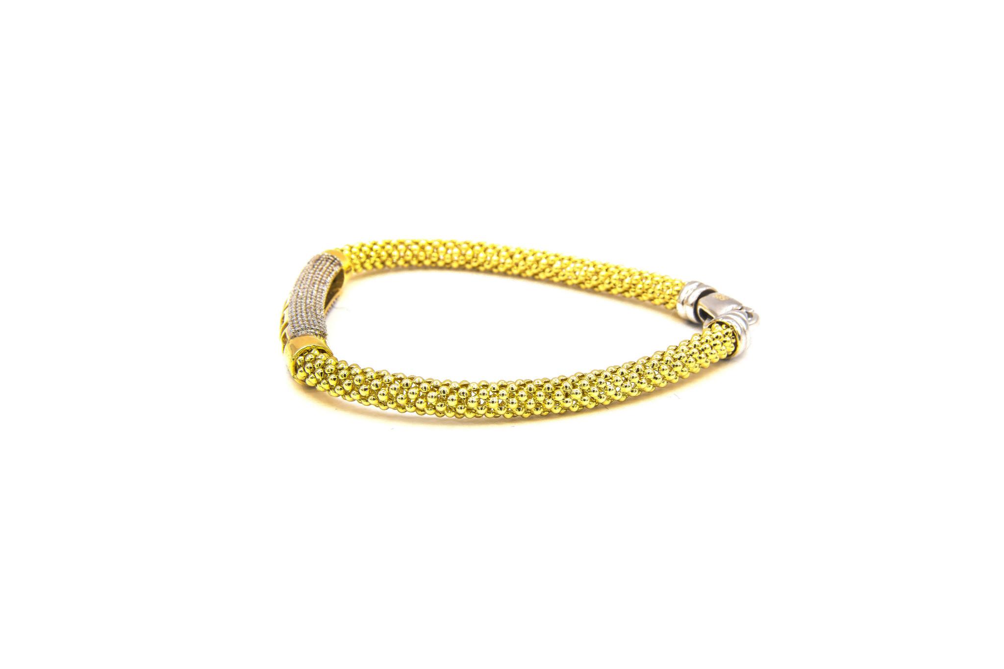 Armband halve slavenband versace met zirkonia's en flexibele boto ketti-6