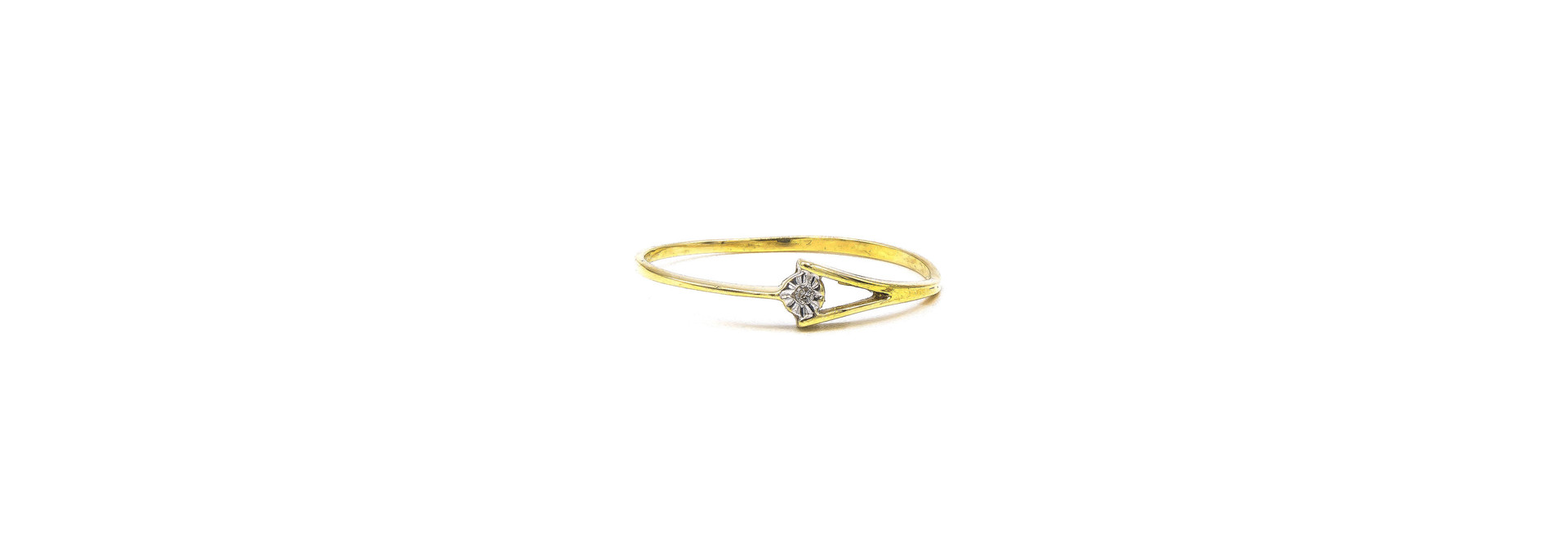Ring gespleten met diamant