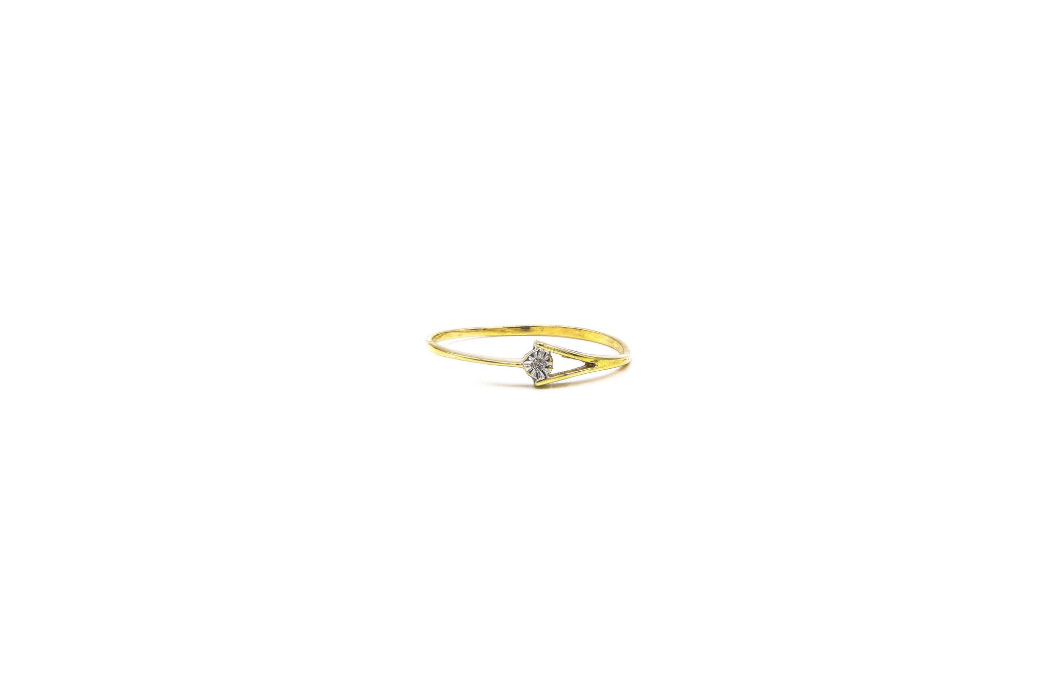 Ring gespleten met diamant-1