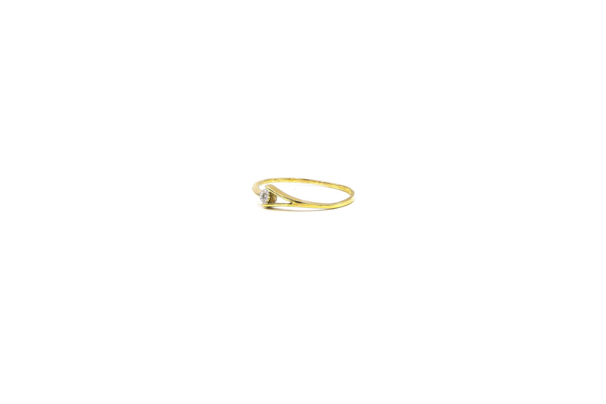 Ring gespleten met diamant-2