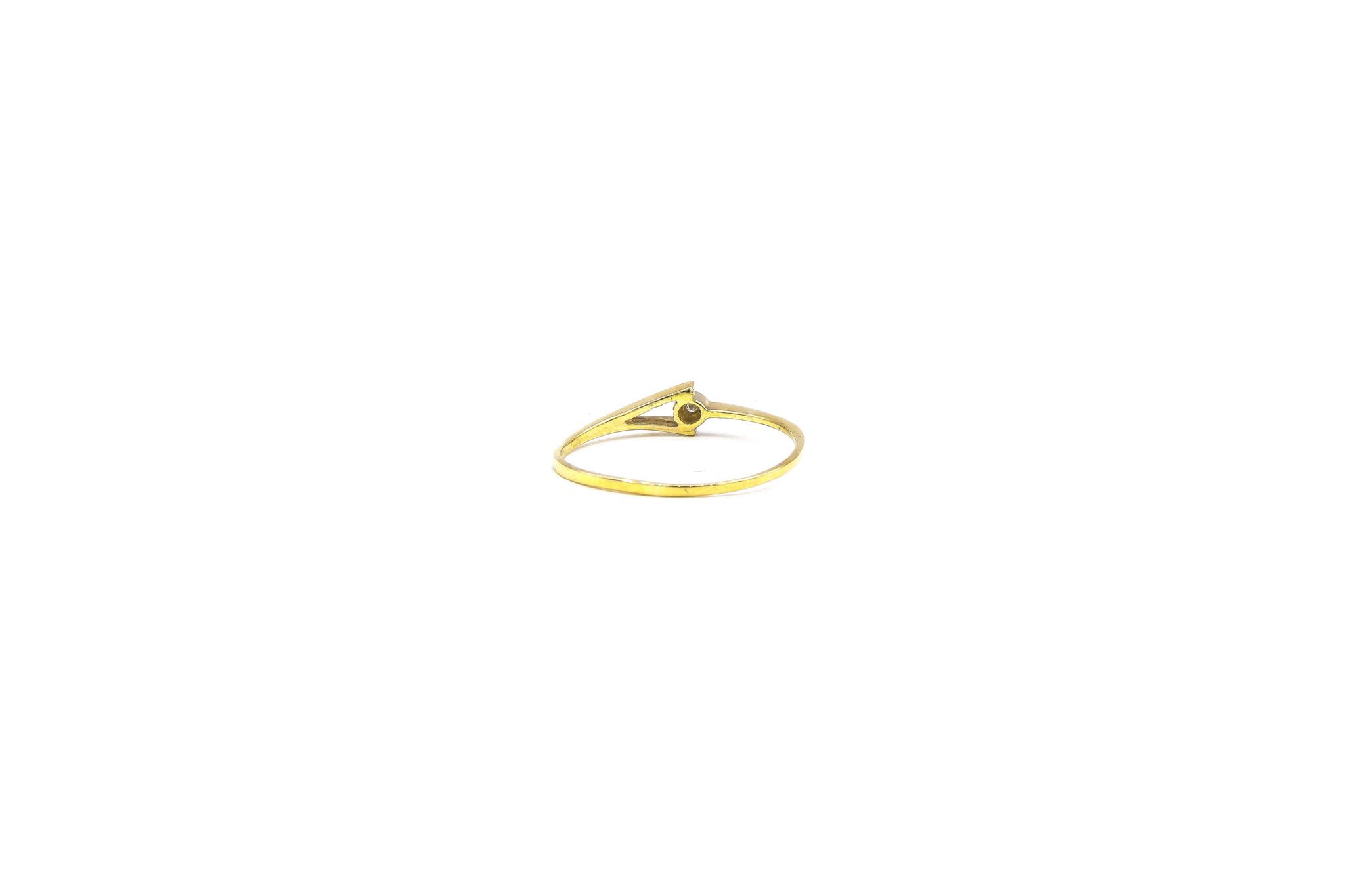 Ring gespleten met diamant-3