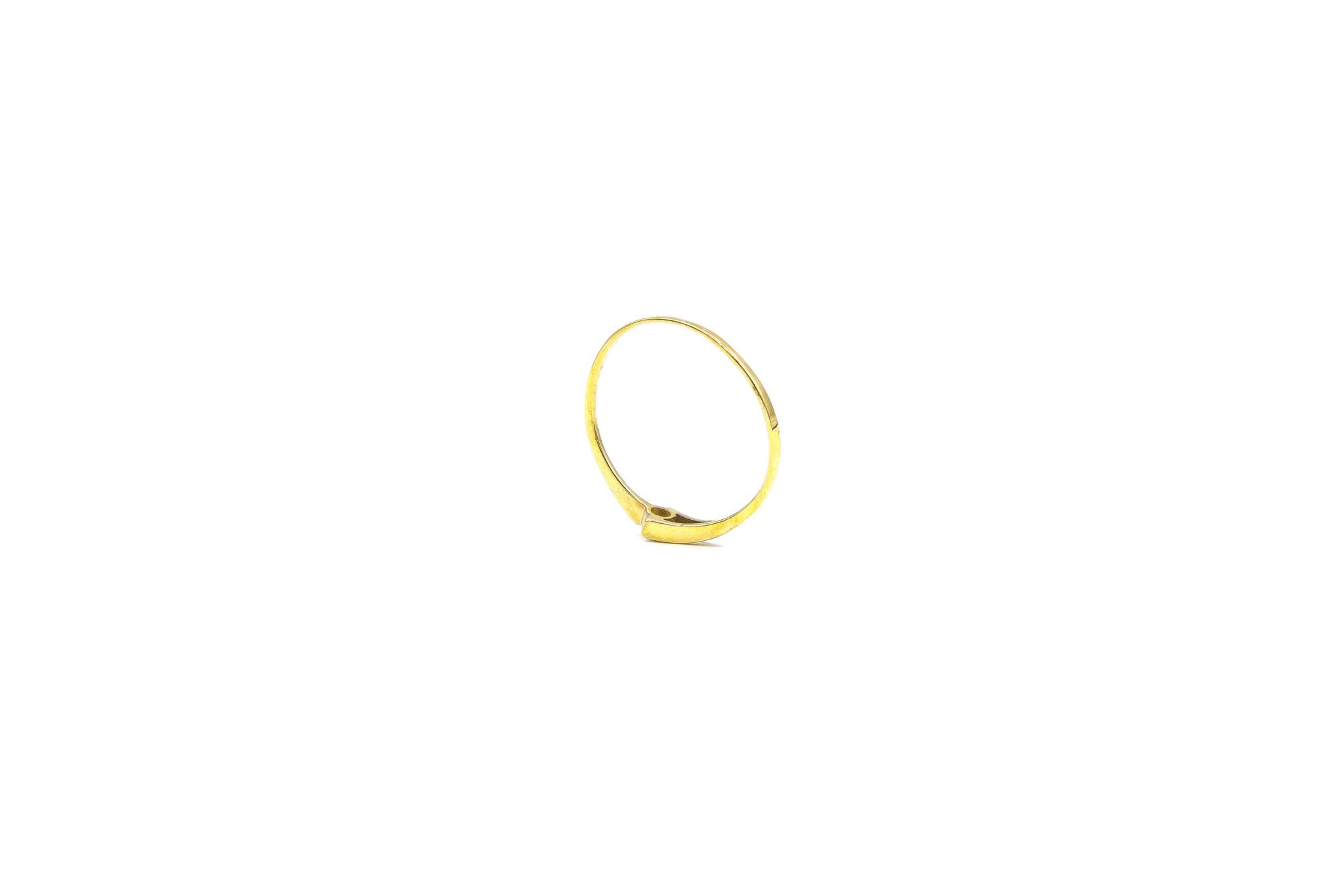 Ring gespleten met diamant-4