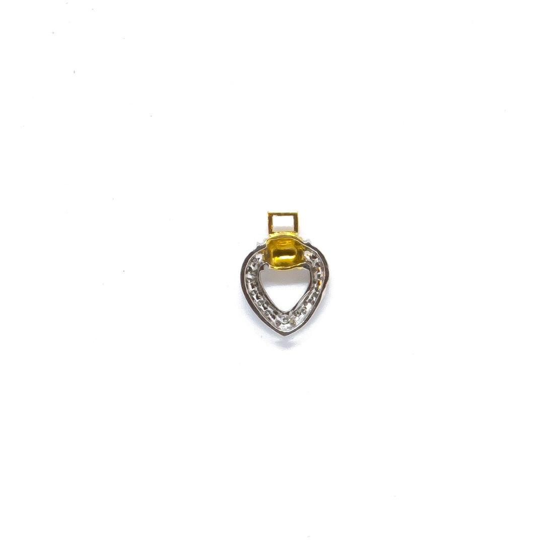 Hanger hartje met diamant bicolor-1