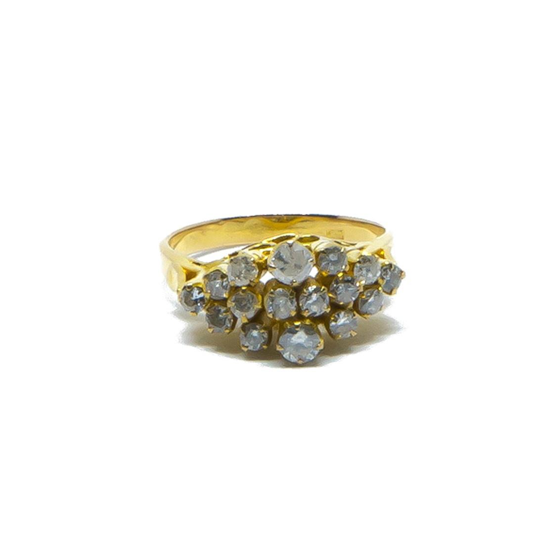 Ring met diamantjes in lagen-1