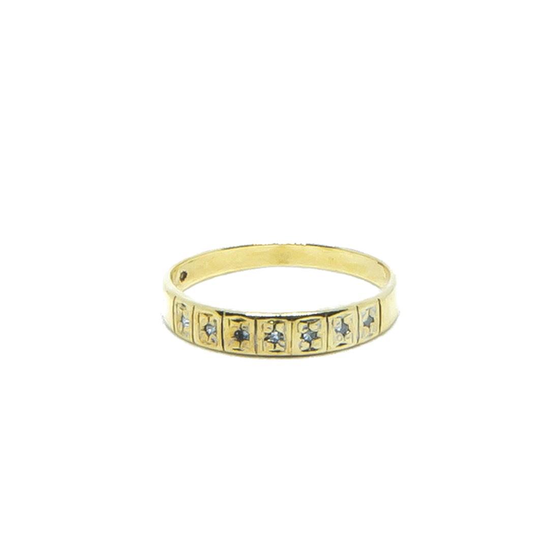 Ring met 7 diamantjes-1