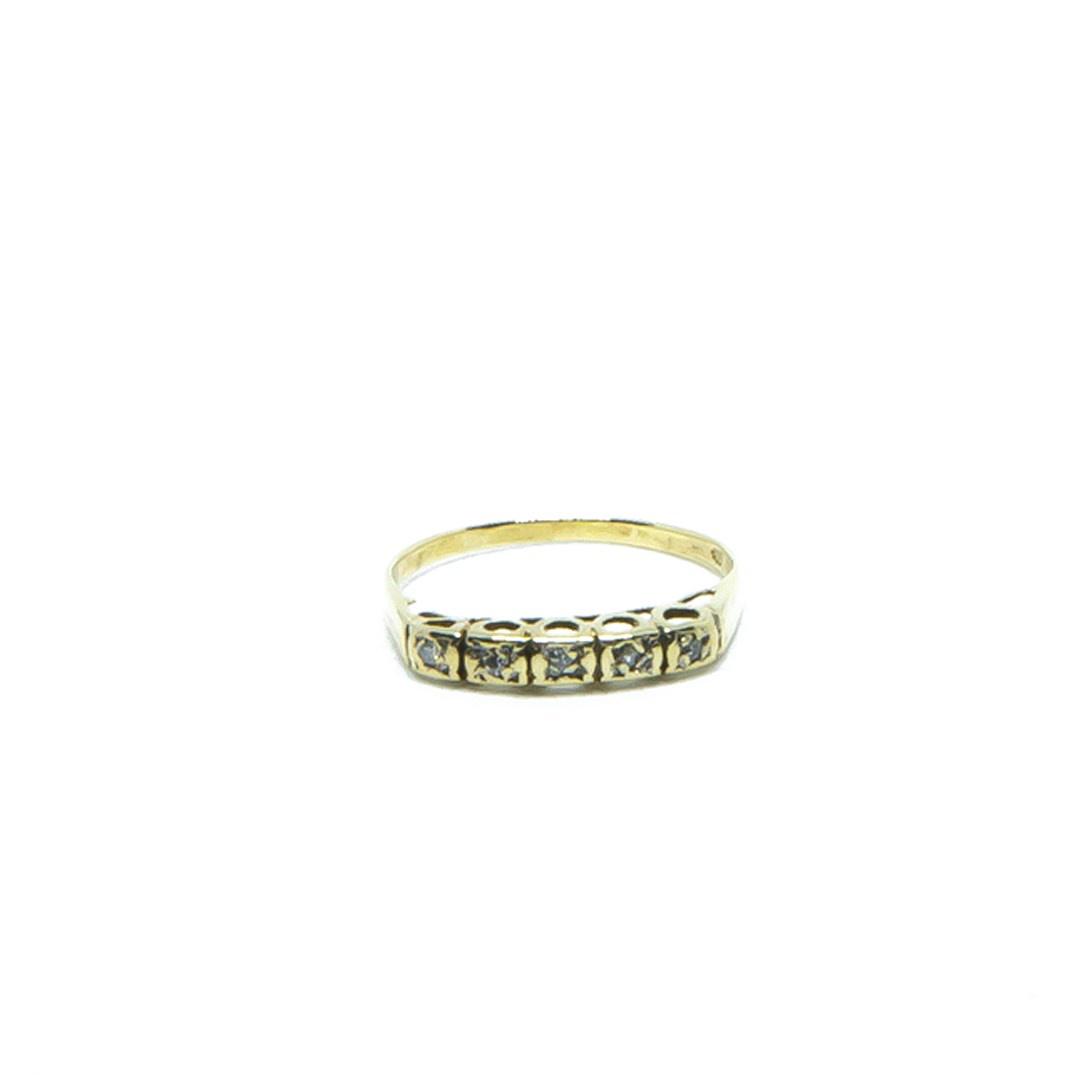 Ring met 5 diamantjes-1