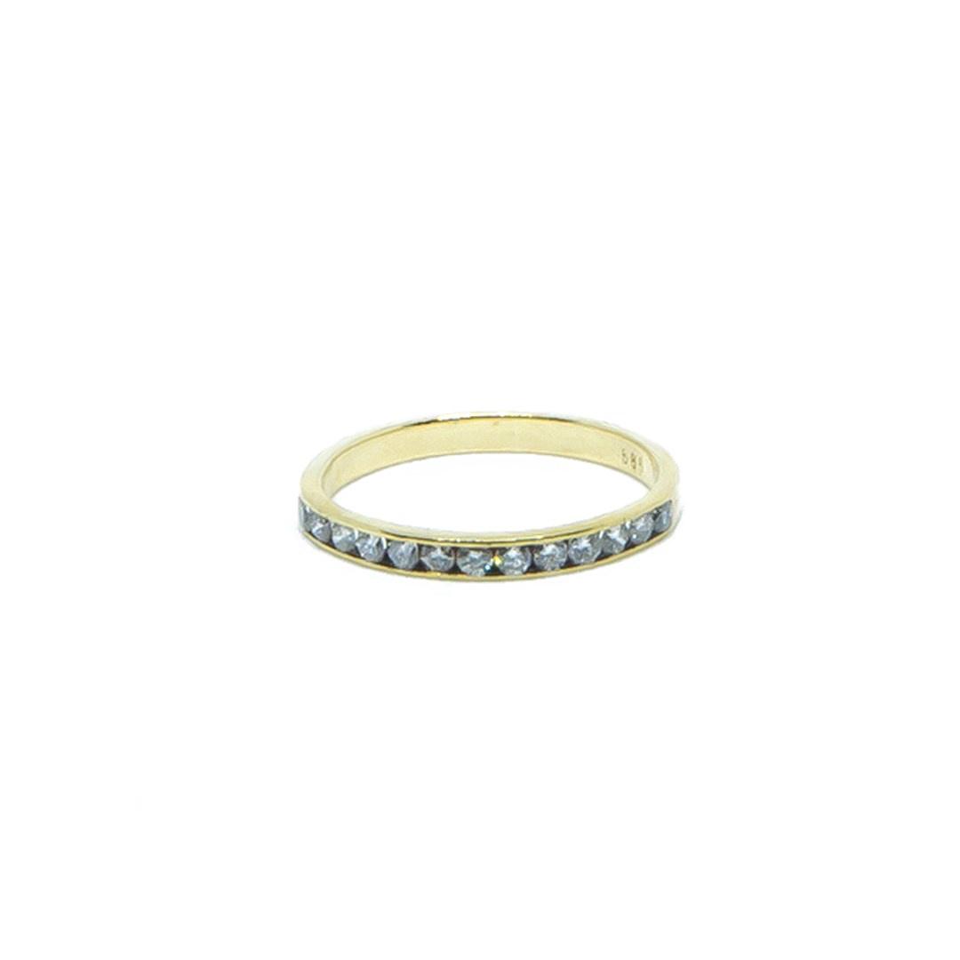 Ring met 1 rij diamantjes-1