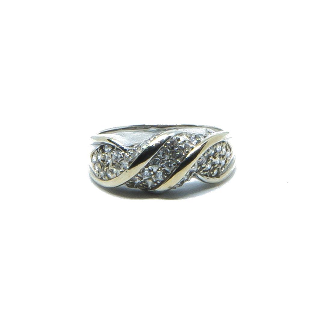 Ring witgoud met witte steentjes-1