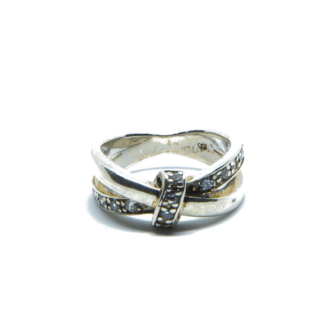 Ring met witte steentjes-1
